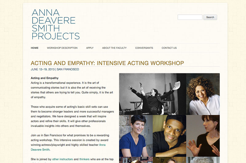 Anna Deavere Smith Projects