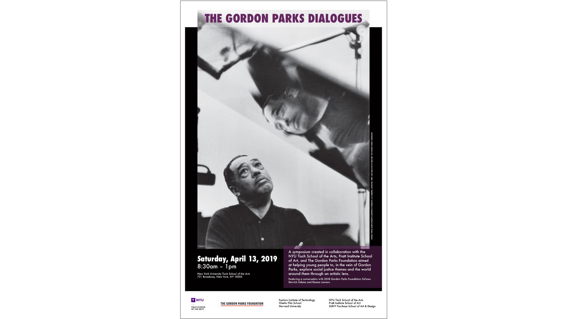 Gordon Parks Dialogues event poster