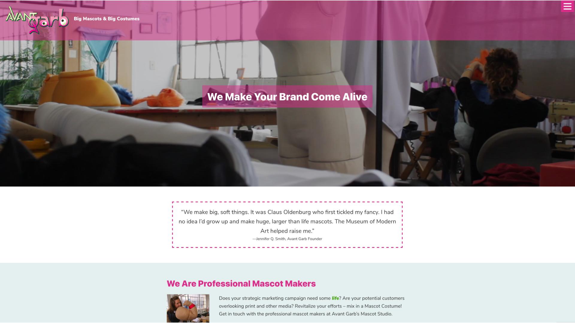Avant Garb website