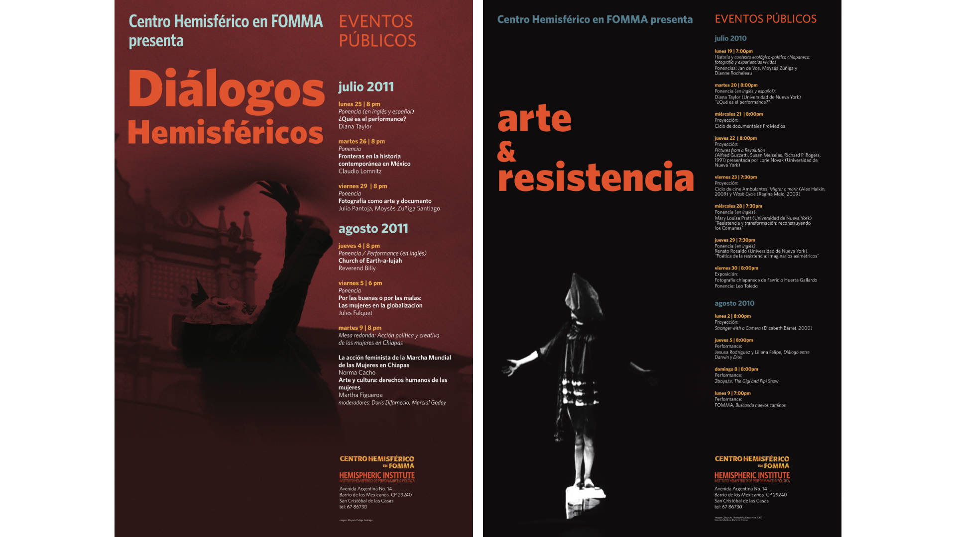 Hemispheric Institute event posters