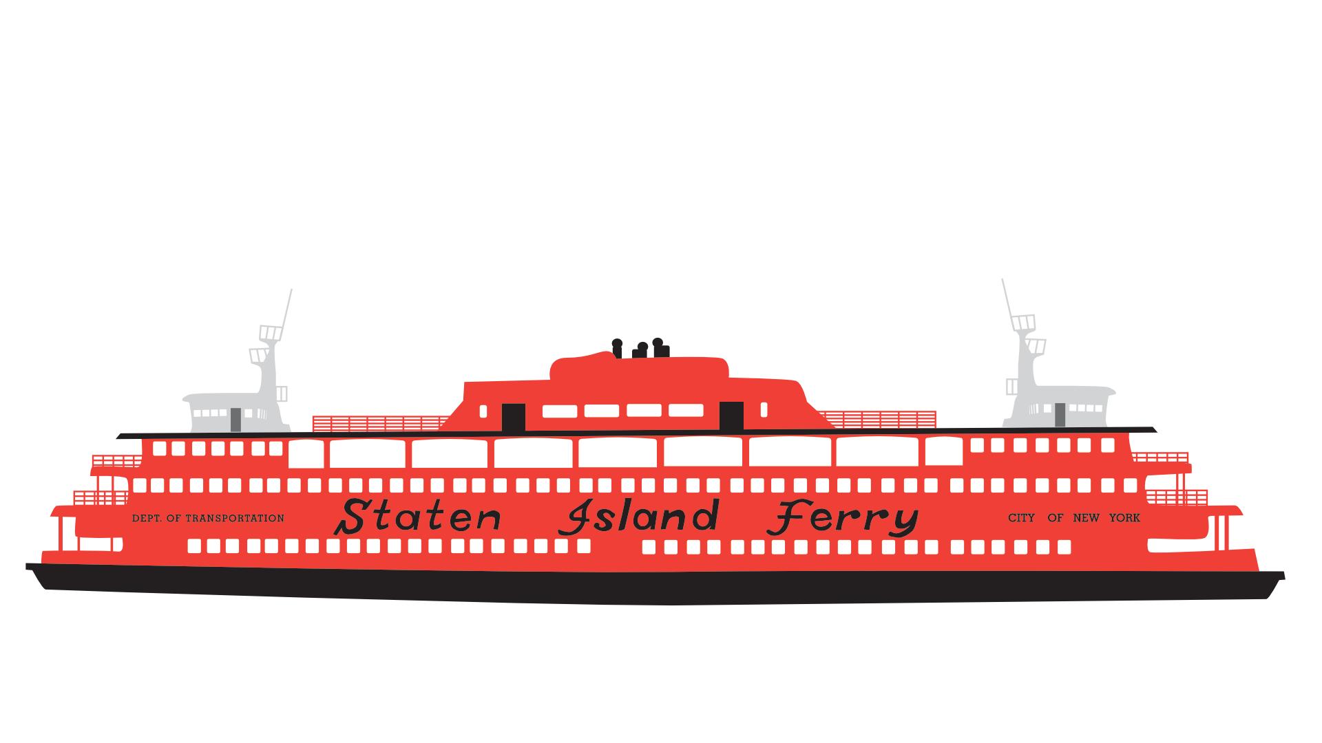 Staten Island Ferry illustration